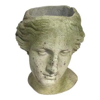 Moss Venus Bust Head Planter For Sale