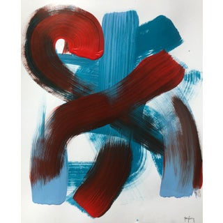 """""""Twist & Shout"""" Modern Abstract Painting by Tony Curry For Sale"""