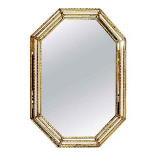 1960s Mid Century Modern Hollywood Regency Italian Large Gold Gilt Wall Mirror For Sale