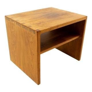 Mid Century Modern Teak Dovetailed Side Table For Sale