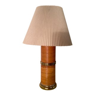 Gabriella Crespi Style Pencil Bamboo Lamp For Sale