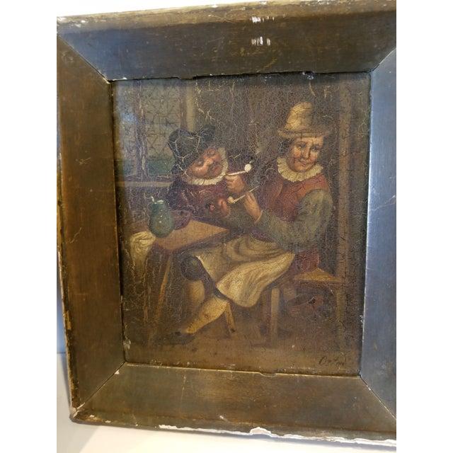 Metal Pair of Dutch Paintings For Sale - Image 7 of 8