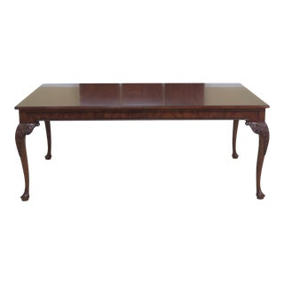 Baker Stately Homes Collection Walnut Dining Room Table For Sale