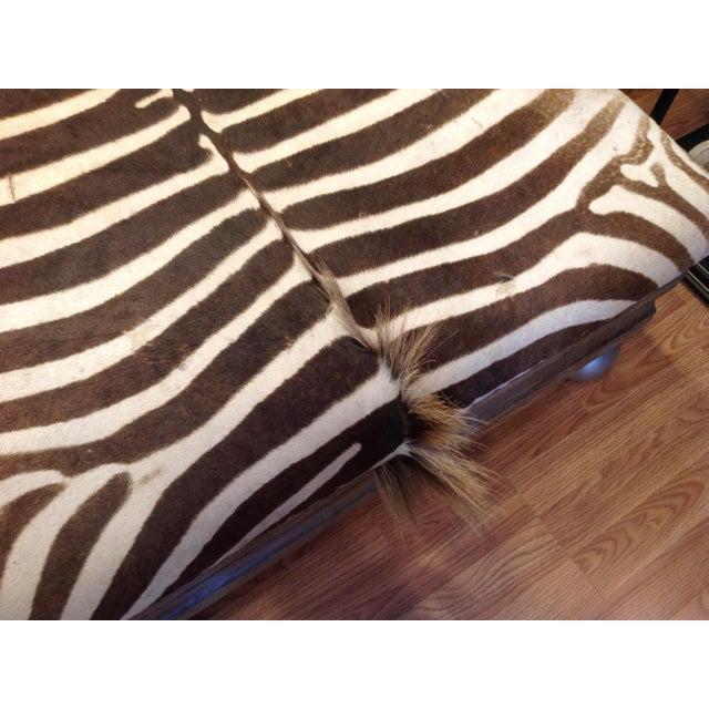 Enormous Zebra Hide Ottoman For Sale - Image 9 of 13