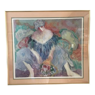 1980s Barbara A. Wood Signed & Numbered Print For Sale