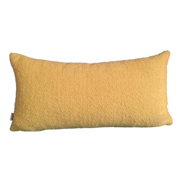 Mid Century Modern Chartreuse Knoll Lumbar Pillow - Image 1 of 5