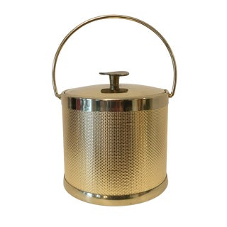 Vintage Serv-Master Gold Ice Bucket For Sale