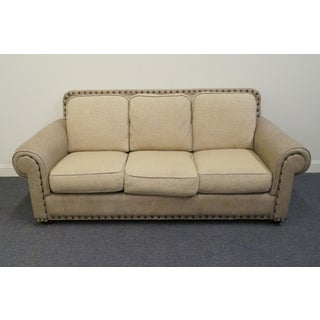 Late 20th Century Vintage Thomasville FurnitureLeather Sofa Preview