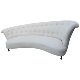 Asymmetrical Hollywood Regency Sofa For Sale