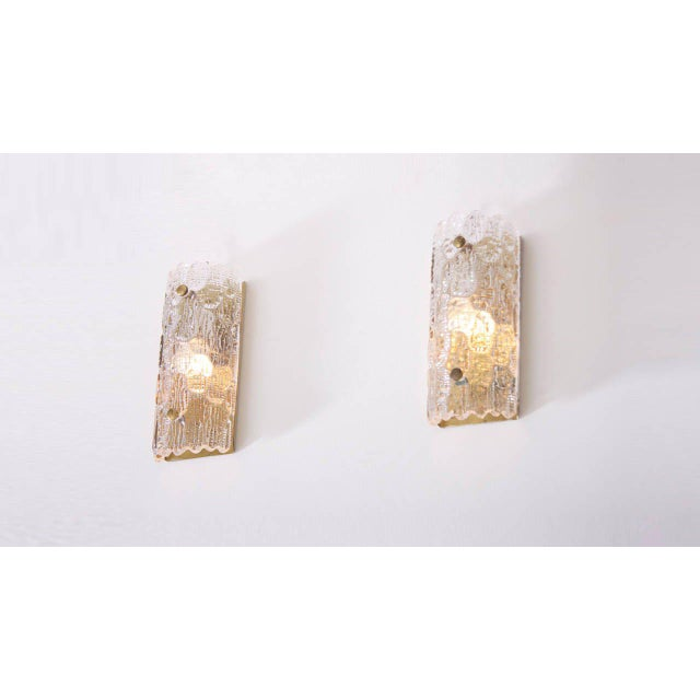 1960s Set of Eight Wall Lamps by Carl Fagerlund for Orrefors and Lyfa For Sale - Image 5 of 6