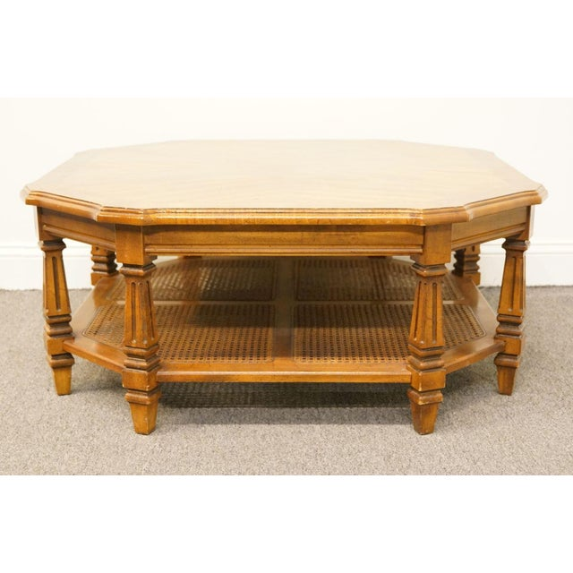 Late 20th Century Vintage Mersman Rustic Country Octagonal Coffee Table For Sale In Kansas City - Image 6 of 10