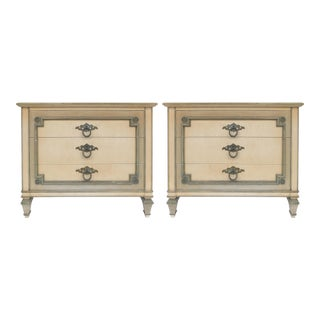 John Widdicomb Hand-Painted Night Tables With Drawers-A Pair For Sale