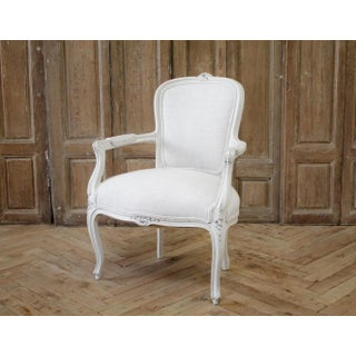 Vintage Painted and Upholstered Louis XV Style Decorative Armchair Preview