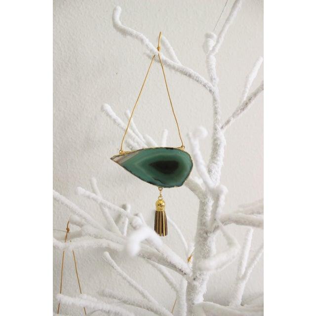 Modern Boho Agate Holiday Ornaments - Set of 7 - Image 10 of 11