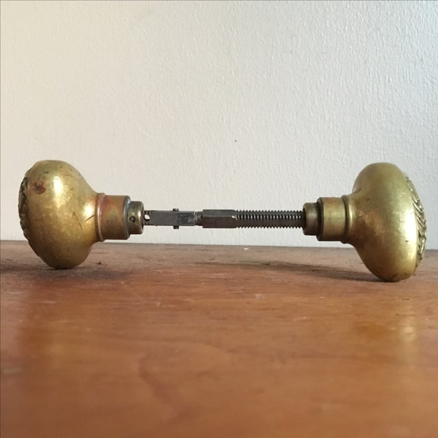 NYC Antique Brass Public School Doorknobs - Image 4 of 7