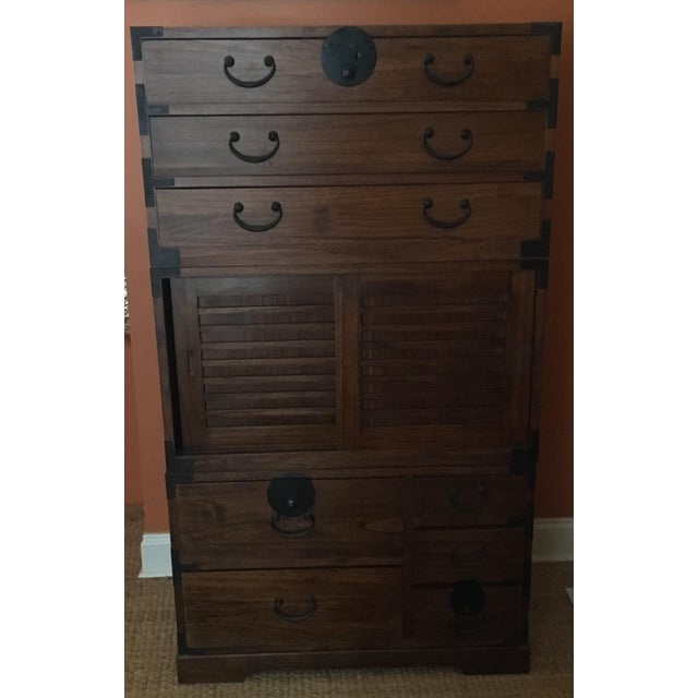 Japanese Style 3 Piece Stacking Tansu Clothing Chest - Image 4 of 11