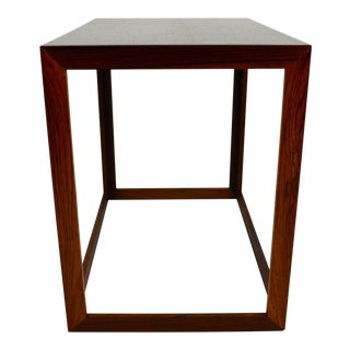 1960s Danish Modern Rosewood Small Sized Side Table For Sale