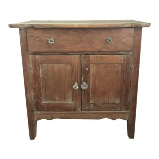 1950s Vintage Rustic Wooden Cabinet For Sale