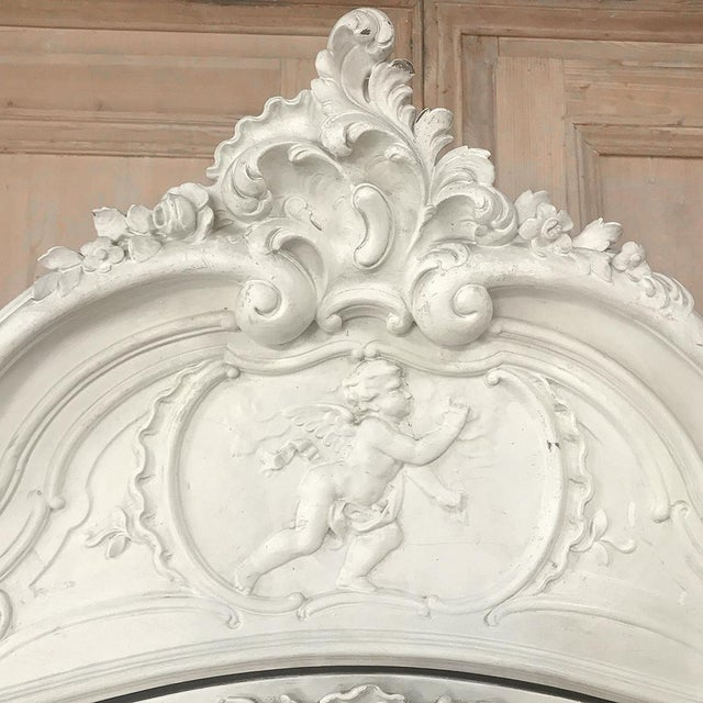 19th Century French Louis XV Painted Triple Armoire For Sale - Image 12 of 13