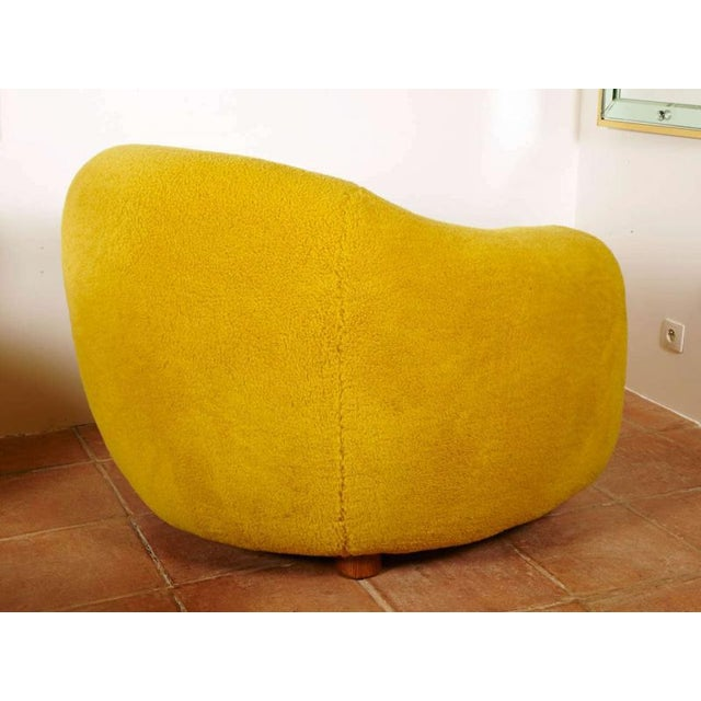 """1950s Jean Royère Genuine Iconic """"Ours Polaire"""" Pair of Chairs For Sale - Image 5 of 11"""