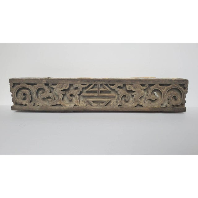 Antique Asian Temple Architectural Relief Carved Stone Frieze Panel For Sale - Image 13 of 13