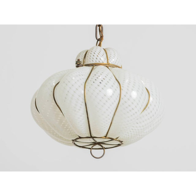 Italian Blown Glass Fixture For Sale - Image 4 of 6