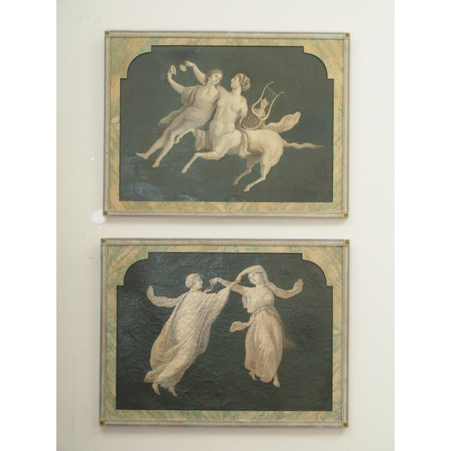 Pair of Grisaille Paintings of Classical Figures For Sale - Image 9 of 9