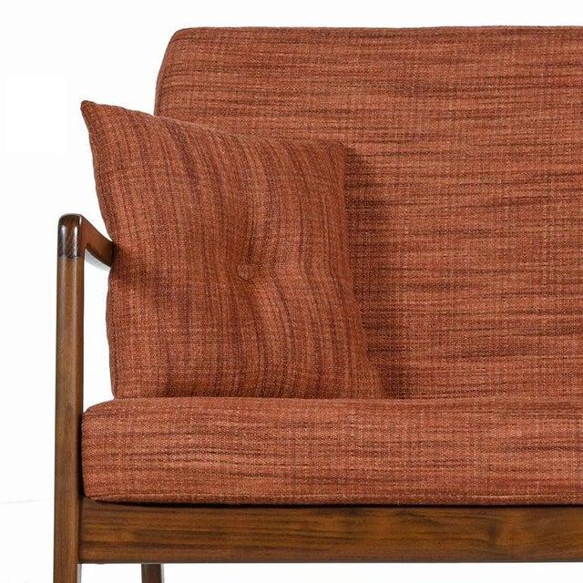 France & Daverkosen Danish Loveseat Settee Sofa by Ole Wanscher for France & Daverkosen For Sale - Image 4 of 9
