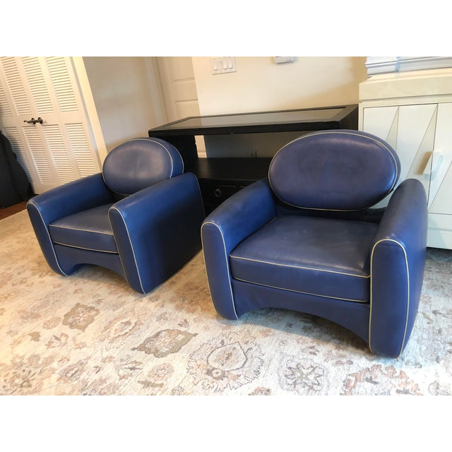 Leather Emiel Veranneman Mid-Century Modern Osaka Leather Club Chairs - a Pair For Sale - Image 7 of 13