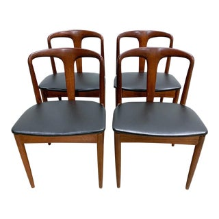 1960s Vintage Danish Modern Juliane Chairs by Johannes Andersen- Set of 4 For Sale