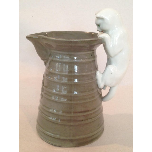 Cream Pitcher with Cat Handle - Image 2 of 6