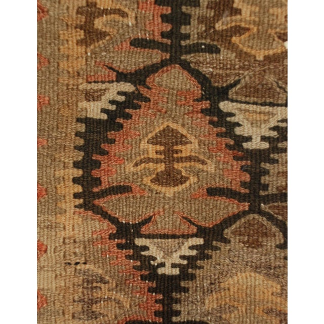 Islamic Early 20th Century Qazvin Kilim Runner - 3′10″ × 11′4″ For Sale - Image 3 of 5