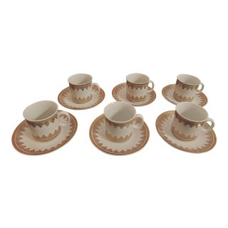 Vintage Demitasse Cups and Saucers - Set of 12 For Sale