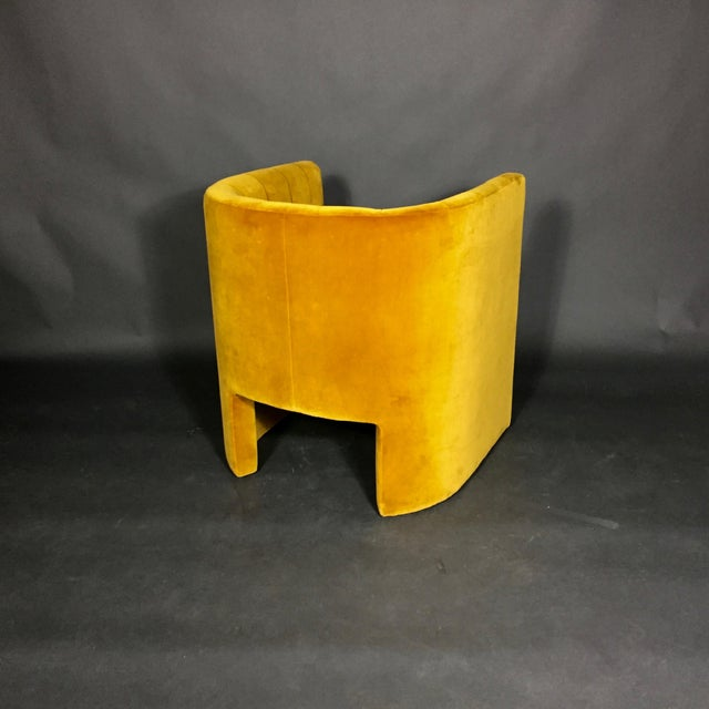 "Yellow ""Loafer"" Club Chair by Space Copenhagen, Dandelion Velvet For Sale - Image 8 of 10"