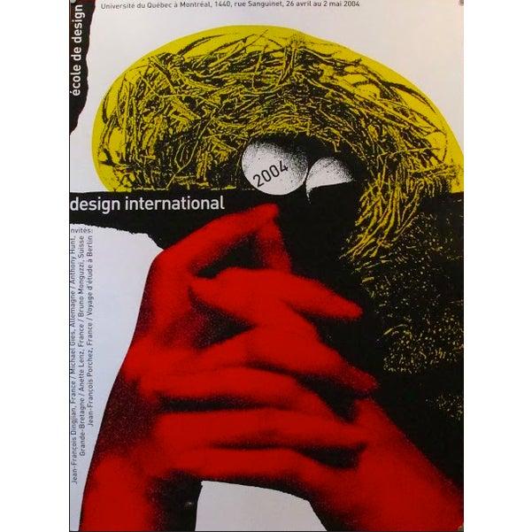 Contemporary 2004 Original Poster Design International - Alfred Halasa For Sale - Image 3 of 3
