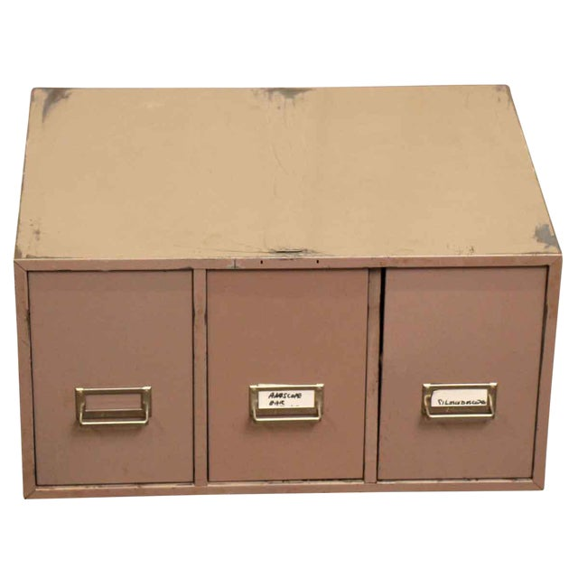 Metal 3-Drawer Filing Cabinet For Sale