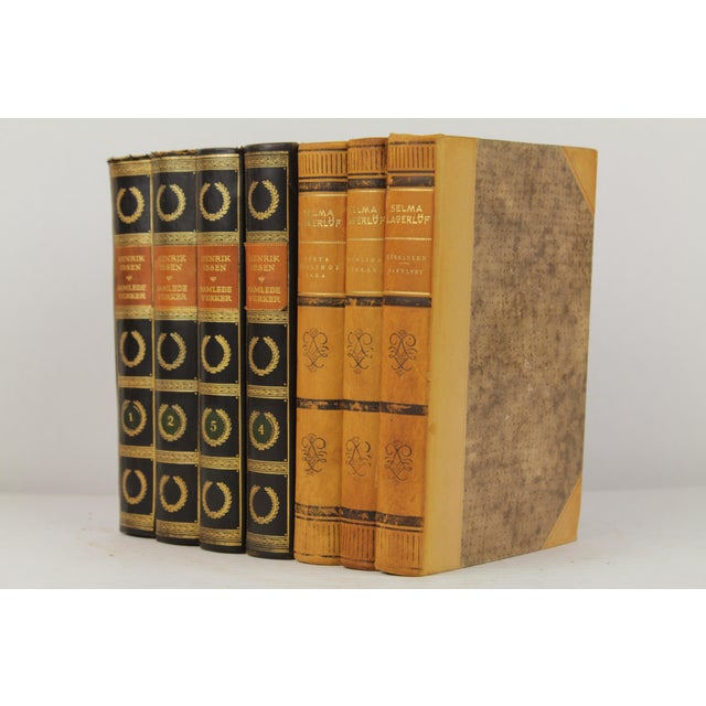 Art Deco Leather-Bound Books - Set of 7 - Image 3 of 4