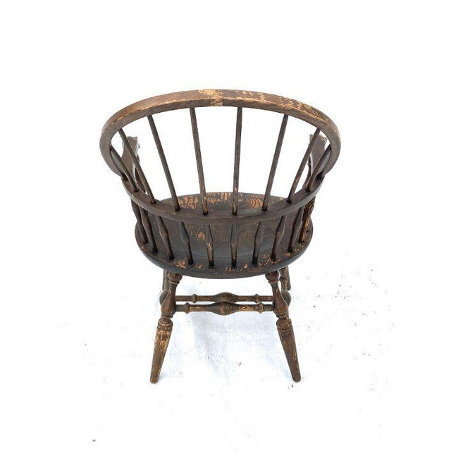 Nichols & Stone Vintage Nichols and Stone Rockport Windsor Rustic Farm House Style Chair For Sale - Image 4 of 8