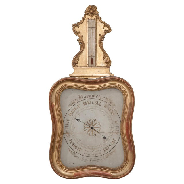 French 19th Century Gold Gilt Barometer For Sale - Image 13 of 13