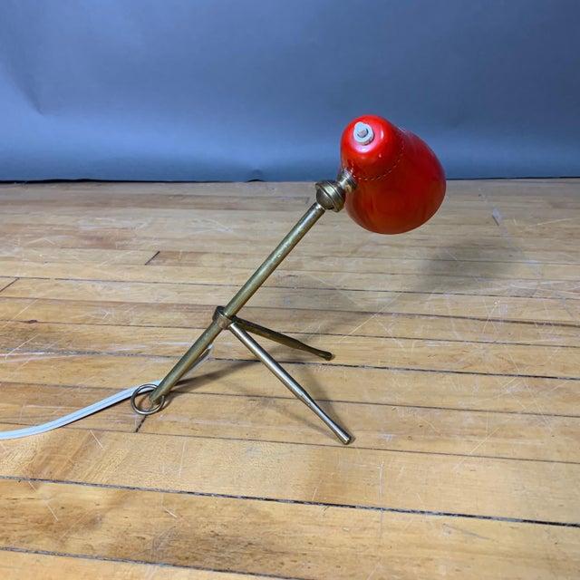 """Red Red Giuseppe Ostuni 1950s """"Ochetta"""" Lamp for Oluce, Italy For Sale - Image 8 of 9"""