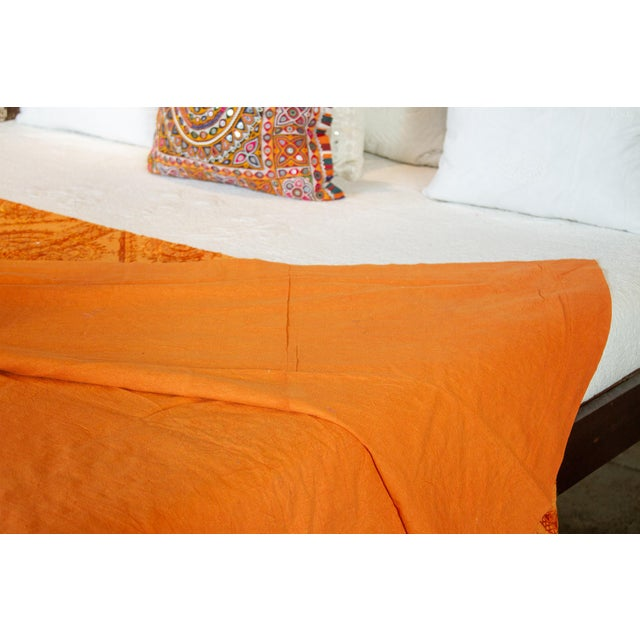 Tangerine Sheesha Coverlet For Sale In Los Angeles - Image 6 of 8