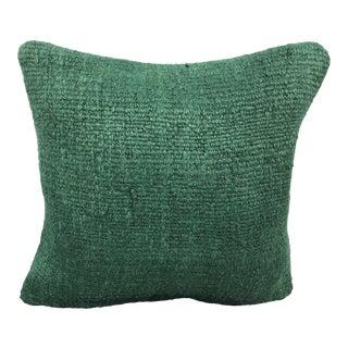 Turkish Green Handmade Organic Hemp Sofa Pillow For Sale