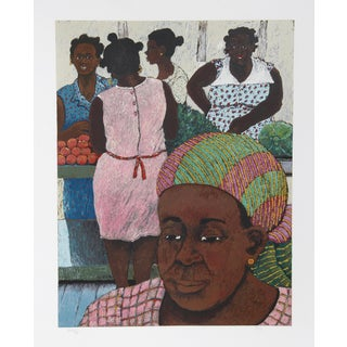 David Azuz, Women of Guadeloupe, Lithograph For Sale
