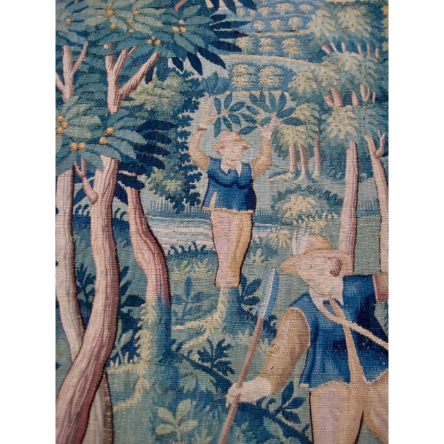 Silk Large 16th Century Flemish Tapestry Wall Hanging For Sale - Image 7 of 13
