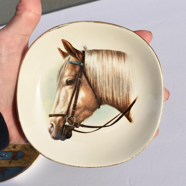 Equestrian Style Ceramic Horse Vide-Poche Decorative Dish or Catch All For Sale - Image 9 of 10