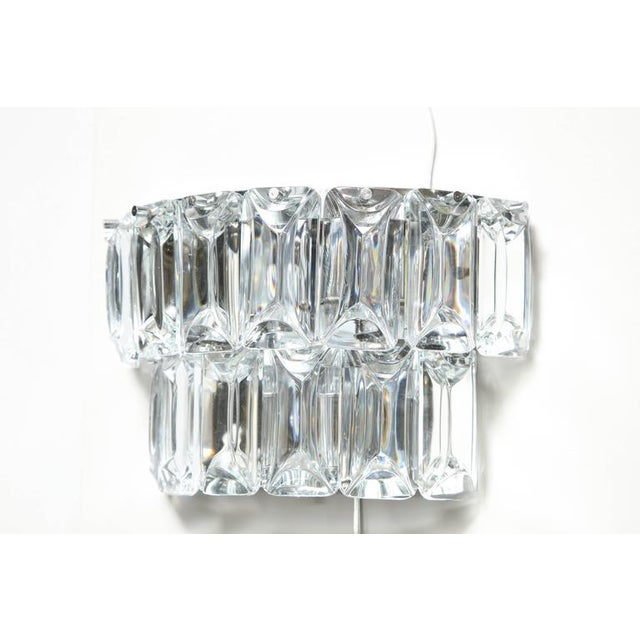 Glamorous 1970s Austrian Crystal Sconces For Sale - Image 4 of 10