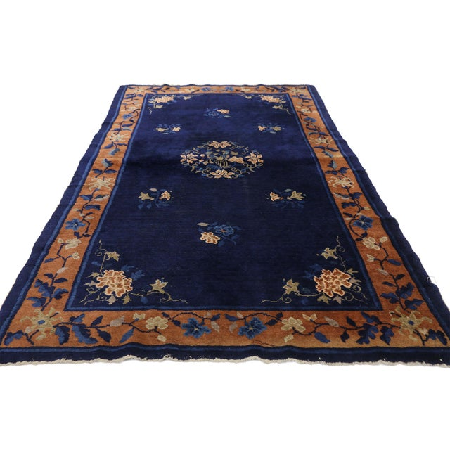 Early 20th Century Antique Chinese Peking Accent Rug - 3′11″ × 6′8″ For Sale - Image 10 of 10