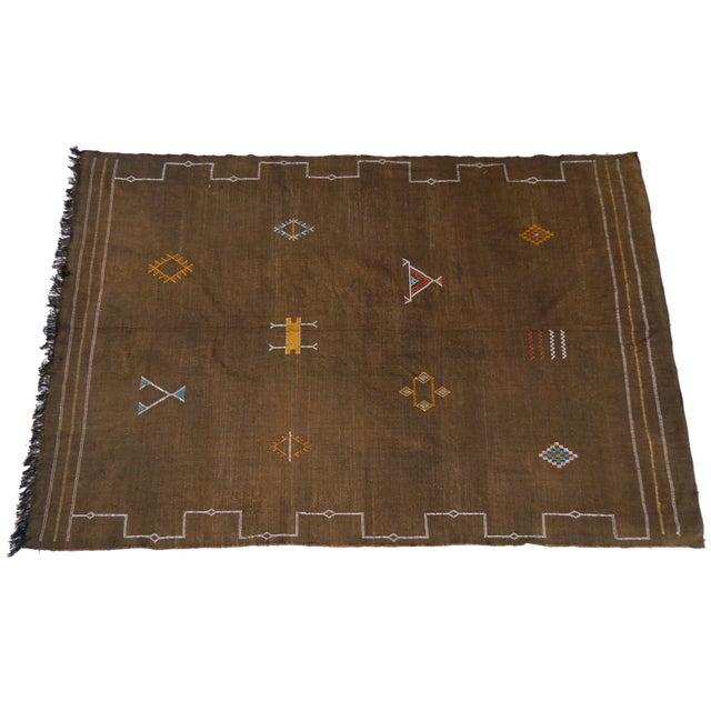 Moroccan Sabra SilkRug For Sale - Image 4 of 4