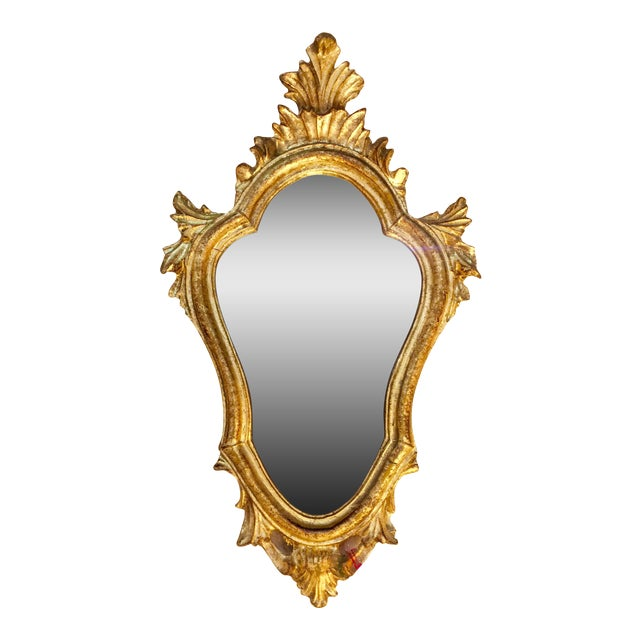 Baroque Style Escutcheon Form Gilt Mirror - Image 1 of 4