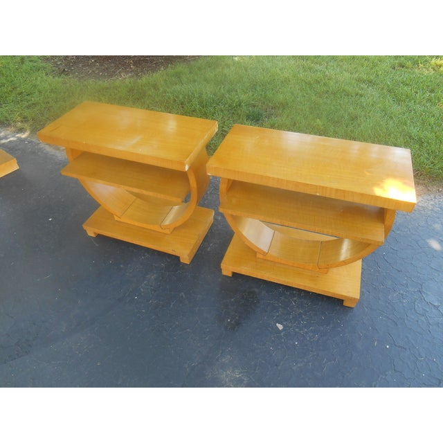 Art Deco Brown-Saltman End Tables - A Pair - Image 2 of 5
